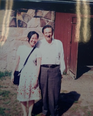 Professor Pao-Lien Chen posed with her mentor, Dr. Michael Gort.