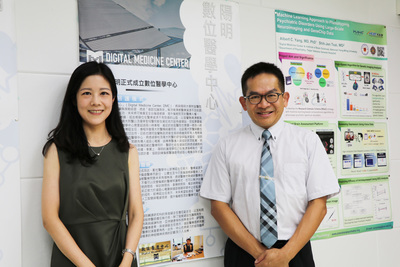 Assistant Professor Li-Lin Liang of Department of Business Management(on the left) and Director of the Institute of Biomedical Informatics at National Yang-Ming University Professor Chun-Ying Wu